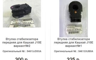 Замена втулок переднего стабилизатора Ниссан Кашкай