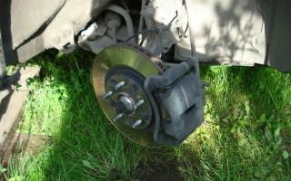 Замена задних колодок Nissan X-Trail
