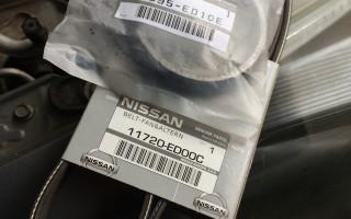 Замена приводного ремня генератора Ниссан Тиида