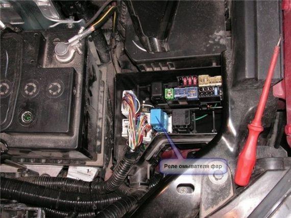 Как отключить омыватель фар Nissan Qashqai