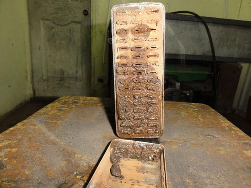 Коррозионные отложения внутри радиатора